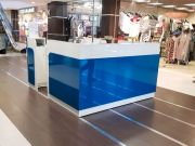 Mall kiosk with Led screen